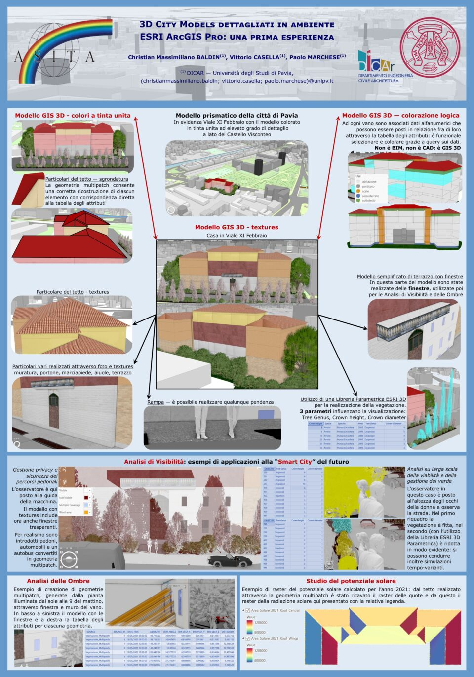 ArcGIS, 3D, CityModels, Unipv, Baldin, Casella, Marchese, Geomatica, GIS